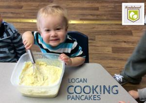 logan cooking pancakes
